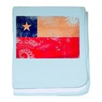 Chile Flag baby blanket