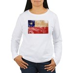 Chile Flag Women's Long Sleeve T-Shirt