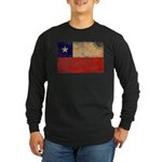 Chile Flag Long Sleeve Dark T-Shirt