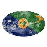 Christmas Island Flag Sticker (Oval 50 pk)