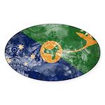 Christmas Island Flag Sticker (Oval 10 pk)
