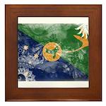 Christmas Island Flag Framed Tile