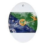 Christmas Island Flag Ornament (Oval)