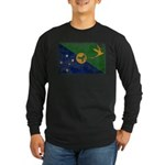Christmas Island Flag Long Sleeve Dark T-Shirt