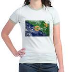 Christmas Island Flag Jr. Ringer T-Shirt