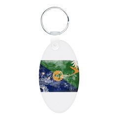 Christmas Island Flag Keychains