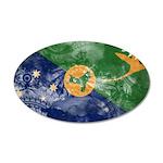 Christmas Island Flag 22x14 Oval Wall Peel
