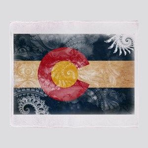 Colorado Flag Throw Blanket