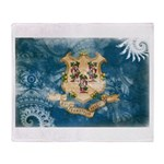 Connecticut Flag Throw Blanket