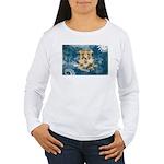 Connecticut Flag Women's Long Sleeve T-Shirt