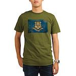 Connecticut Flag Organic Men's T-Shirt (dark)