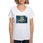 Connecticut Flag Women's V-Neck T-Shirt