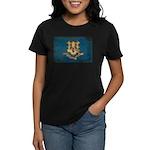 Connecticut Flag Women's Dark T-Shirt