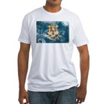 Connecticut Flag Fitted T-Shirt