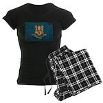 Connecticut Flag Women's Dark Pajamas