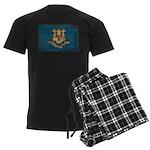 Connecticut Flag Men's Dark Pajamas