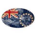 Cook Islands Flag Sticker (Oval 10 pk)