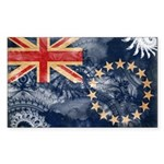 Cook Islands Flag Sticker (Rectangle)