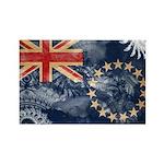Cook Islands Flag Rectangle Magnet (100 pack)