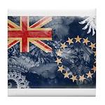 Cook Islands Flag Tile Coaster
