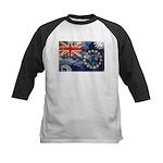 Cook Islands Flag Kids Baseball Jersey