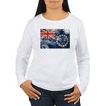 Cook Islands Flag Women's Long Sleeve T-Shirt