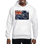 Cook Islands Flag Hooded Sweatshirt