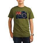 Cook Islands Flag Organic Men's T-Shirt (dark)
