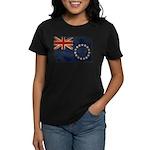 Cook Islands Flag Women's Dark T-Shirt