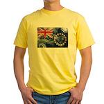 Cook Islands Flag Yellow T-Shirt