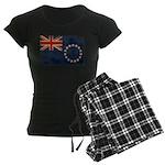 Cook Islands Flag Women's Dark Pajamas