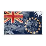 Cook Islands Flag 38.5 x 24.5 Wall Peel