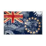 Cook Islands Flag 22x14 Wall Peel