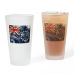 Cook Islands Flag Drinking Glass