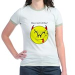 Satanic Smiley Face Jr. Ringer T-Shirt