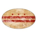 District of Columbia Flag Sticker (Oval 50 pk)