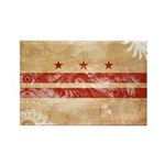 District of Columbia Flag Rectangle Magnet (10 pac
