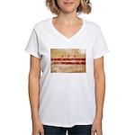 District of Columbia Flag Women's V-Neck T-Shirt