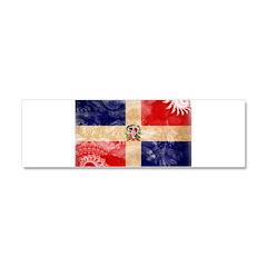 Dominican Republic Flag Car Magnet 10 x 3