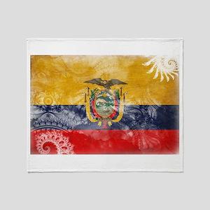 Ecuador Flag Throw Blanket