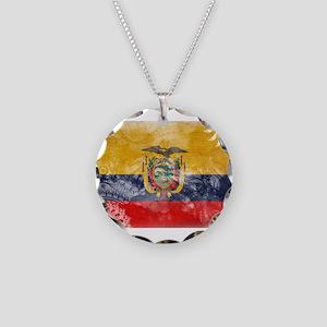 Ecuador Flag Necklace Circle Charm