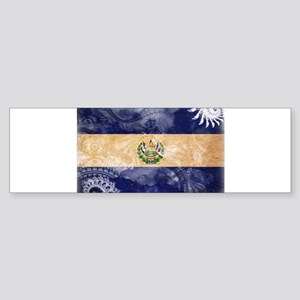 El Salvador Flag Sticker (Bumper)