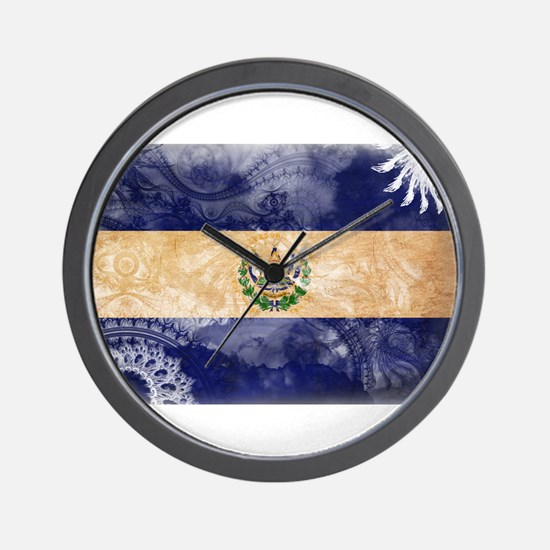 El Salvador Flag Wall Clock