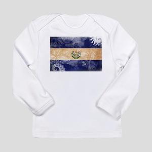 El Salvador Flag Long Sleeve Infant T-Shirt