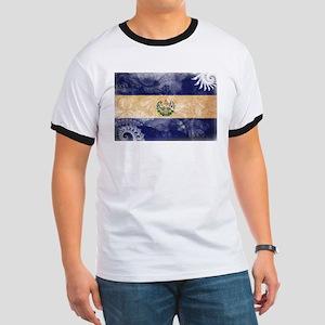 El Salvador Flag Ringer T
