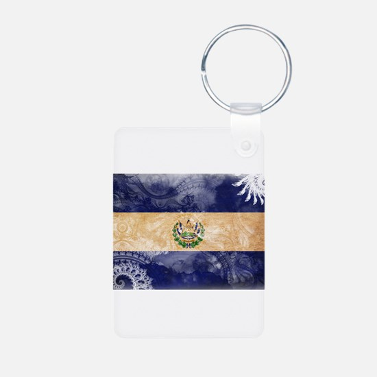 El Salvador Flag Keychains