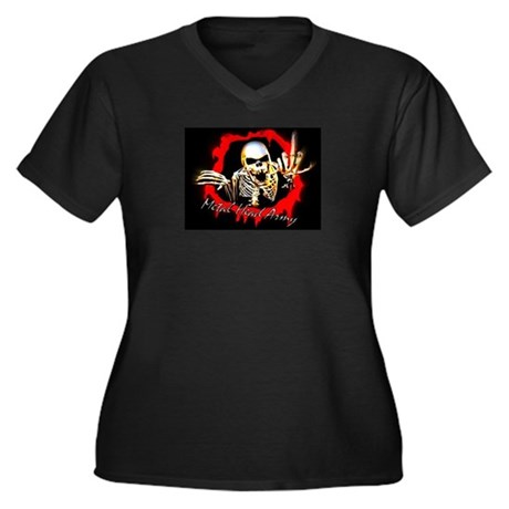 T-Shirts Women's Plus Size V-Neck Dark T-Shirt
