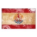 French Polynesia Flag Sticker (Rectangle 10 pk)
