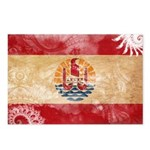 French Polynesia Flag Postcards (Package of 8)