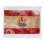 French Polynesia Flag Throw Blanket